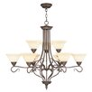 <strong>Livex Lighting</strong> Coronado 9 Light Chandelier