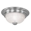 <strong>Livex Lighting</strong> Flush Mount Grooved Iced Cased Glass