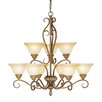 <strong>Livex Lighting</strong> Bristo 9 Light Chandelier