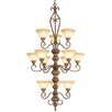 <strong>Bistro 12 Light Chandelier</strong> by Livex Lighting