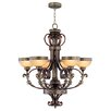 <strong>Seville 6 Light Chandelier</strong> by Livex Lighting