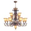 <strong>Villa Verona Chandelier</strong> by Livex Lighting