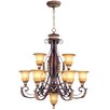 <strong>Livex Lighting</strong> Villa Verona 10 Light Chandelier
