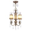 La Bella 3 Light Convertible Chandelier