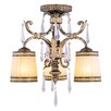 Livex Lighting La Bella 3 Light Semi Flush Mount
