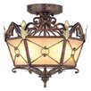 Bristol Manor  Flush Mount in Palacial Bronze with Gilded Accents