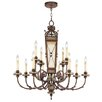 <strong>Livex Lighting</strong> Bristol Manor Twelve Light Chandelier in Palacial Bronze with Gilded Accents