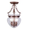 <strong>Duchess 3 Light Convertible Foyer Pendant</strong> by Livex Lighting