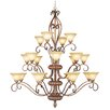 Livex Lighting Bistro 20 Light Chandelier