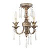 <strong>Livex Lighting</strong> La Bella 3 Light Mini Chandelier