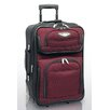 <strong>Traveler's Choice</strong> Amsterdam Expandable Rolling Carry - On in Burgundy