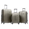 Traveler's Choice Toronto 3 Piece Hardside Spinner Luggage in Gold
