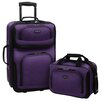 Traveler's Choice RIO Expandable 2 Pc Luggage Set
