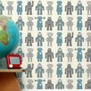 Aimee Wilder Designs Robots Wallpaper Sample (Set of 2)