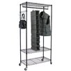 Oceanstar Design Garment Rack with Adjustable Shelves and Hooks