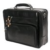 Green CUltimo Leather Laptop Briefcase