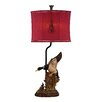 """Dimond Lighting Duck Hunt 29"""" H Table Lamp with Drum Shade"""