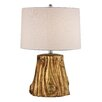"Dimond Lighting Gold Tree Trunk 24"" H Table Lamp with Drum Shade"