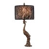 "Dimond Lighting Peacock 27"" H Table Lamp with Drum Shade"