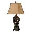 """Dimond Lighting Trump Home Allegra 30"""" H Table Lamp with Bell Shade"""