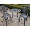 Oakland Living Butterfly 3 Piece Bistro Set