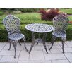 <strong>Tea Rose 3 Piece Bistro Set</strong> by Oakland Living