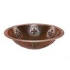 <strong>Premier Copper Products</strong> Oval Fleur De Lis Undermount Hammered Copper Sink