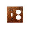 Premier Copper Products Copper Combination Switchplate, 2 Hole Outlet and Single Toggle Switch in Oil Rubbed Bronze