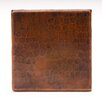 "<strong>Premier Copper Products</strong> 4"" x 4"" Copper Hammered Tile in Oil Rubbed Bronze"