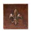 "<strong>Premier Copper Products</strong> 4"" x 4"" Copper Fleur De Lis Tile in Oil Rubbed Bronze"