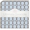 Swaddle Designs Ultimate Receiving Blanket® in Pastel with Brown Mod Circles