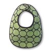 Terry Velour Bitty Bib in Pastel Lime with Brown Mod Circles