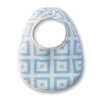 Terry Velour Bitty Bib in Light Pastel Blue with Pastel Mod Squares