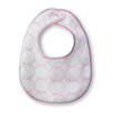 Certified Organic Cotton Bitty Bib with Mod Circles on Ivory