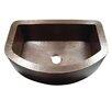 "Yosemite Home Decor 33"" x 22"" Hammered Single Bowl Curved Farmhouse Kitchen Sink"