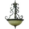 <strong>Yosemite Home Decor</strong> Mariposa 3 Light Foyer Inverted Pendant