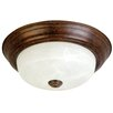 "<strong>Yosemite Home Decor</strong> Belen 16"" 2 Light Flush Mount"