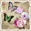 <strong>Revealed Artwork Butterflies and Flowers II Graphic Art on Canvas</strong> by Yosemite Home Decor