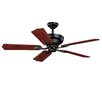 "Vaxcel 52"" French Country 5 Blade Ceiling Fan"