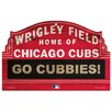 MLB Wood Sign - Chicago Cubs Wrigley