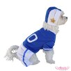 Blue Football Player Dog Costume