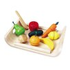 <strong>Large Scale Assorted Fruit and Vegetable Set</strong> by Plan Toys