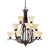 Nuvo Lighting Anastasia 12 Light Chandelier