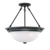 "Nuvo Lighting 15.5"" 3 Light Semi Flush Mount"