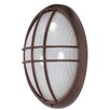 Nuvo Lighting Large Oval Cage Wall Sconce in Architectural Bronze