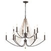 Varaluz Swept Away 12 Light Candle Chandelier