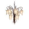 <strong>Recycled Soho 9 Light Chandelier</strong> by Varaluz