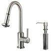 <strong>One Handle Single Hole Kitchen Faucet with Soap Dispenser</strong> by Vigo