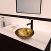 Vigo Glass Vessel Bathroom Sink with Seville Faucet