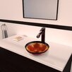 <strong>Vigo</strong> Fusion Glass Vessel Bathroom Sink with Otis Faucet